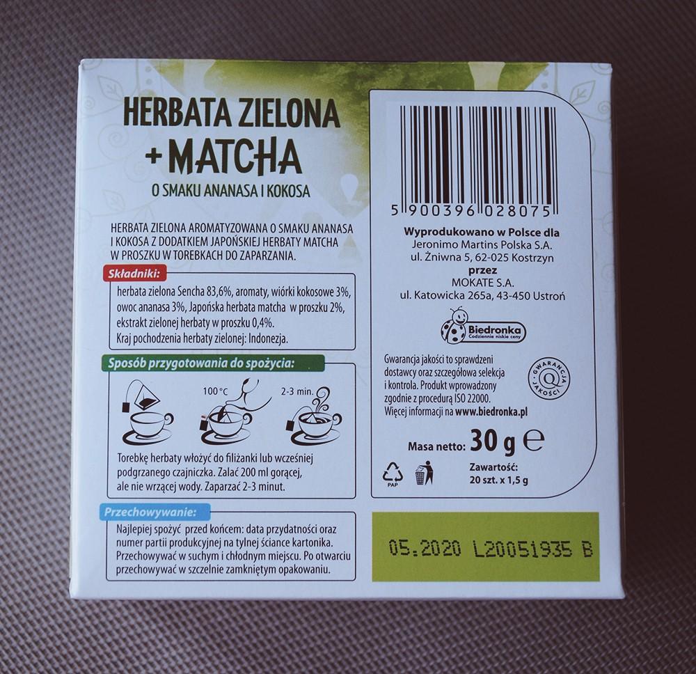 Zielona herbata z Biedronki